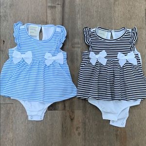 *set of 2* First impressions skirted romper 6-9mth